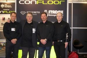 Från vänster Urban Edell, Henric Kärrstedt, Robert Selberg och Erik Hasselberg